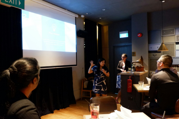 Momo presenting at a recent K2 event in Singapore