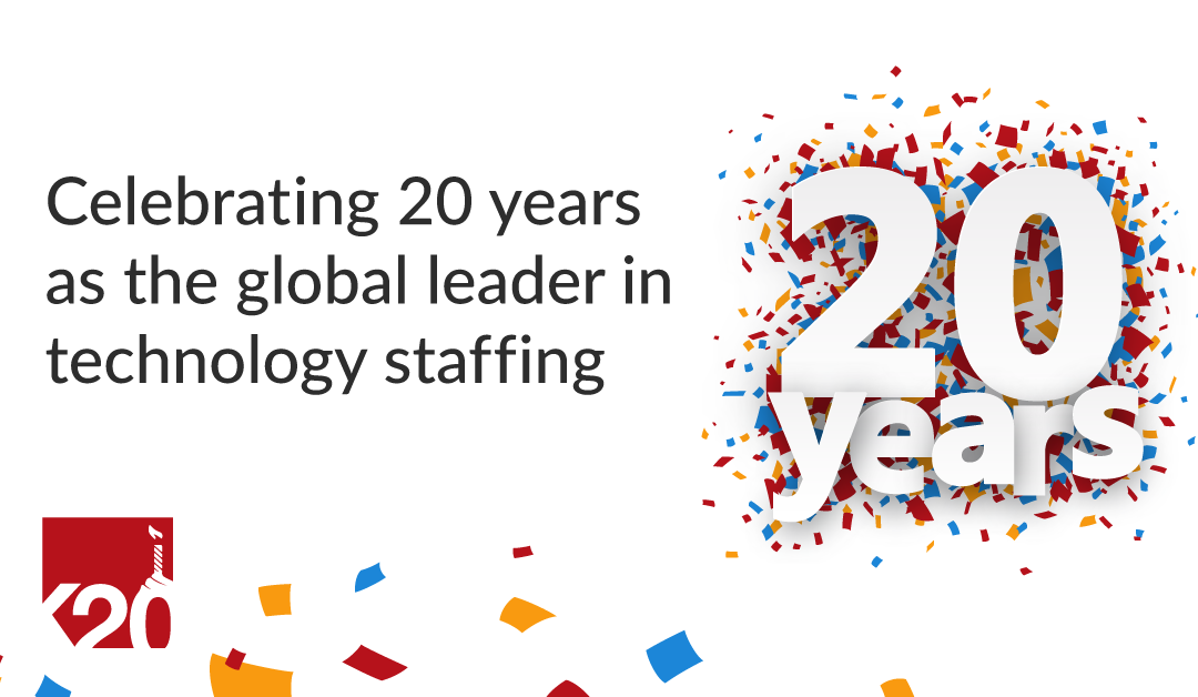 K2 Celebrates 20 Years at the top of Technology Staffing