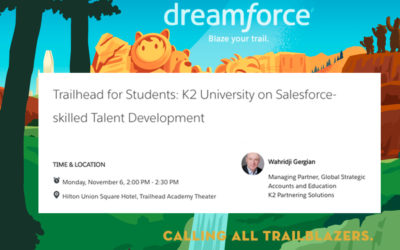 K2 Salesforce Training Program to be Showcased at Dreamforce 2017