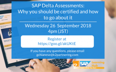 Webinar: SAP Delta Assessments – Why you should be certified and how to go about it