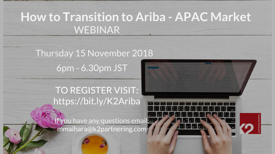 Webinar: How to transition to Ariba – APAC Market