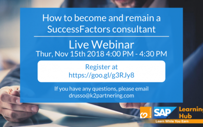 Webinar: How to Become and Remain a SAP SuccessFactors Consultant