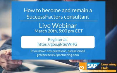Webinar: How to Become and Remain a SuccessFactors Consultant