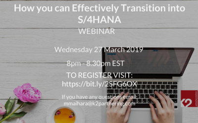 How you can Effectively Transition into S/4HANA