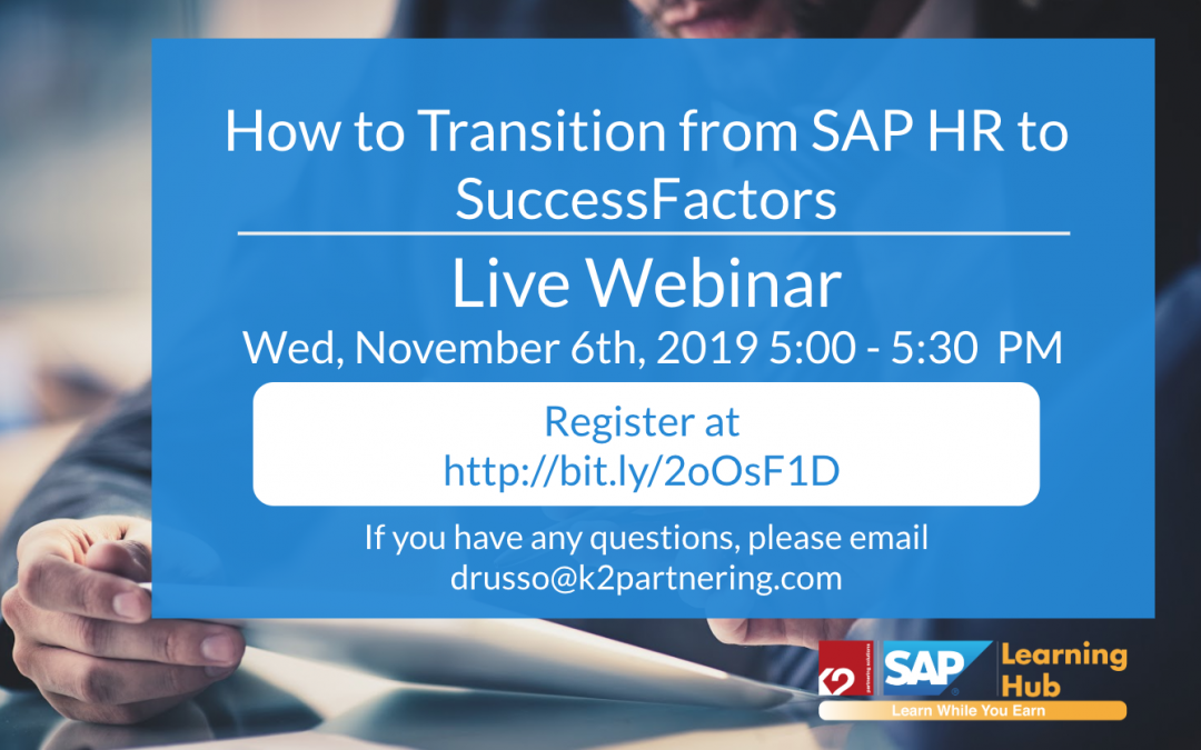 How to Transition from SAP HR to SuccessFactors